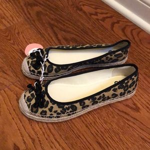 SO Shoes - SO leopard flats size 8.5 M new